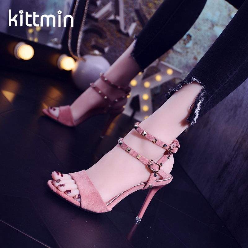 kittmin Roman fashion womens sandals 2019 new nightclub style rivet banquet high heel stiletto sexy shoeskittmin Roman fashion womens sandals 2019 new nightclub style rivet banquet high heel stiletto sexy shoes