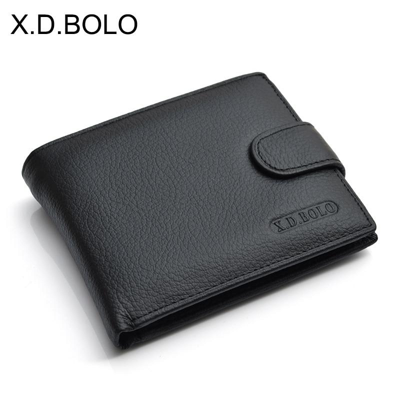 X.D.BOLO бумажник, мужские кожаные кошельки из натуральной бычьей кожи с карманом для монет, мужской кошелек, кожаная сумка для денег, мужские б...