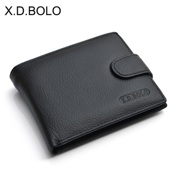 X.D.BOLO Wallet Men Leather Genuine Cow Leather Man Wallets With Coin Pocket Man Purse leather Money Bag Male Wallets Wholesale piroyce genuine leather men wallets with coin bag hasp mens wallet male money purses wallets multifunction men wallet