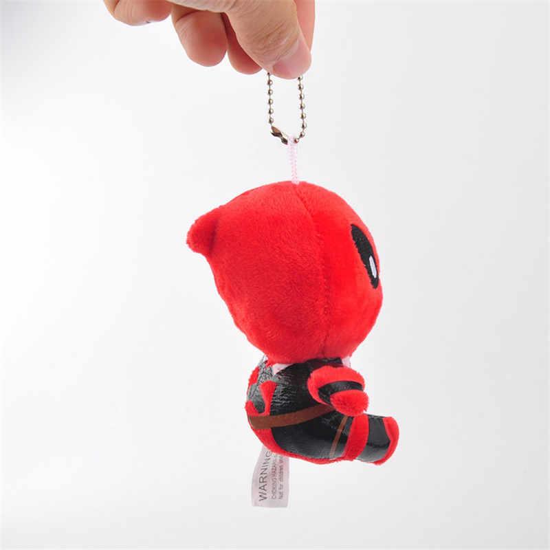 Filme de Super Heróis X-Men Deadpool Brinquedos de Pelúcia Saco Chave Pingentes Bonecos de Peluche Chaveiro 10 pçs/lote 11 cm