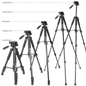 Image 4 - Zomei q111 전문 휴대용 경량 여행 알루미늄 카메라 삼각대 팬 헤드 스마트 폰 slr dslr 디지털 카메라