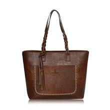 Pu-leder Handtaschen Frauen Tasche Luxus Quaste Designer Vintage Taschen Mujer Tote Einkaufstaschen sac ein haupt a4 Pu Umhängetasche L107