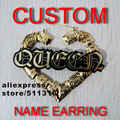 Basketball Wives Style Name Customized Stud  Earring     24pairs/lot