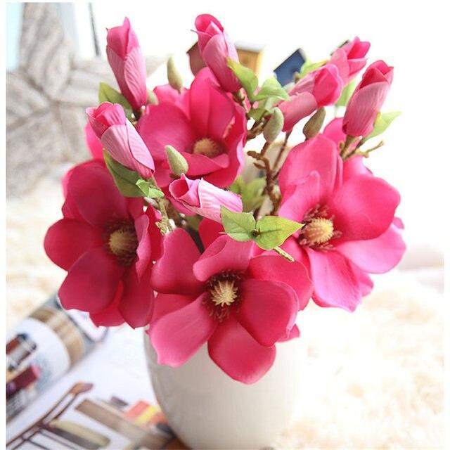Online Shop Simulation Flower Magnolia Bouquet Artificial Flower Pu ...