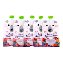 8 шт многоразовые Многоразовые пакеты для хранения пищевых продуктов DIY детские пищевые комбинаты 200 мл