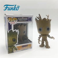 Marvel FUNKO POP! 1pcs Guardians of the Galaxy Groot Vinyl Doll Friend Child Boy Birthday Party Wedding Action&Toy Figures Gift funko pop bobble фигурка guardians of the galaxy 2 groot