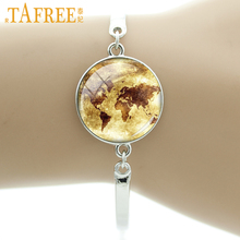Popular map exploring the world buy cheap map exploring the world tafree brand retro world map be adventurous travel bracelet traveler explorers souls gift love reading old books jewelry ns328 gumiabroncs Images