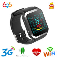 696 KW06 Smart Watch Heart Rate Monitor Bluetooth Alarm Clock GPS SIM Sports Watch Android Mobile Phone