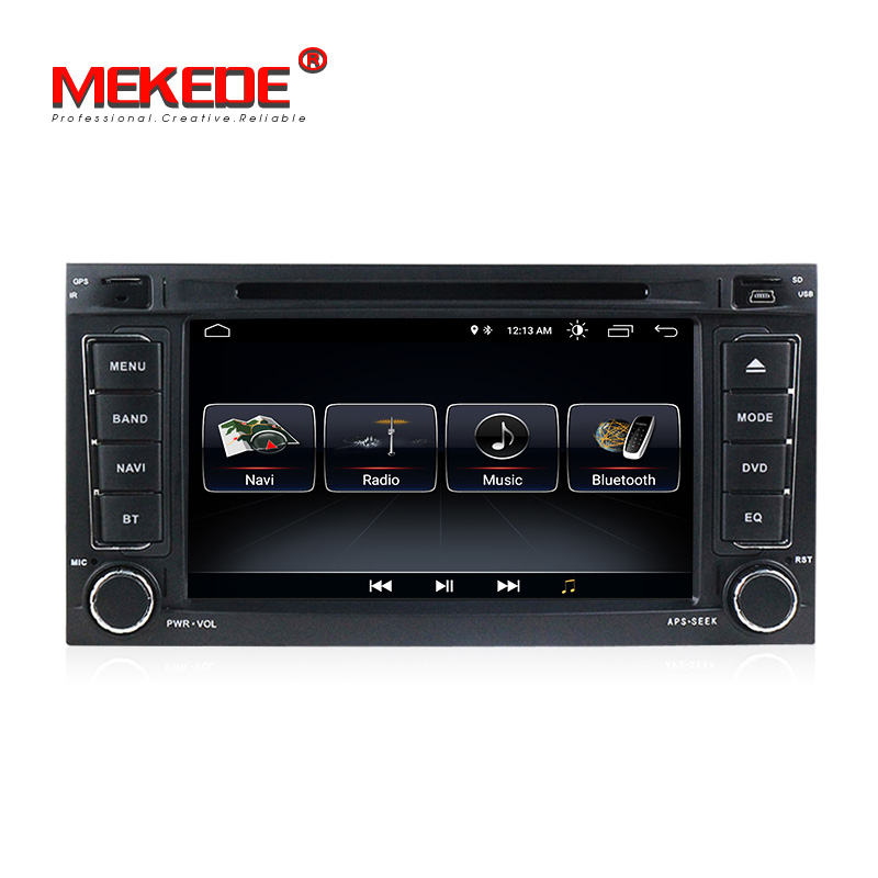 2din 7 pouces Android8.1 Quad-core Voiture multimédia lecteur dvd gps navigator pour VW Touareg Multivan T5 (2002 -2010) voiture radio BT ipod