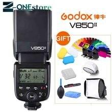 Godox V850II المدمج في 2.4 جرام GN60 اللاسلكية X نظام ليثيوم أيون فلاش كاميرا Speedlite لكانون نيكون بنتاكس أوليمبوس فوجي فيلم كاميرا