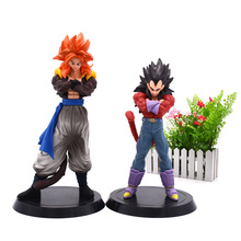 2 pcs/set Anime Dragon Ball GT Action Figure Super Saiyan Son Goku Kakarotto Vegeta Gogeta PVC Model Doll Hot Toys 18-20 cm
