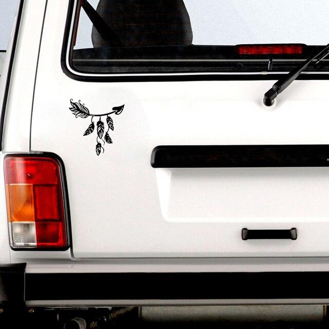 QYPF-autocollant de voiture 12.7*13CM | Autocollant amusant pour décor de chasse à larc en plume, accessoires en vinyle pour Silhouette