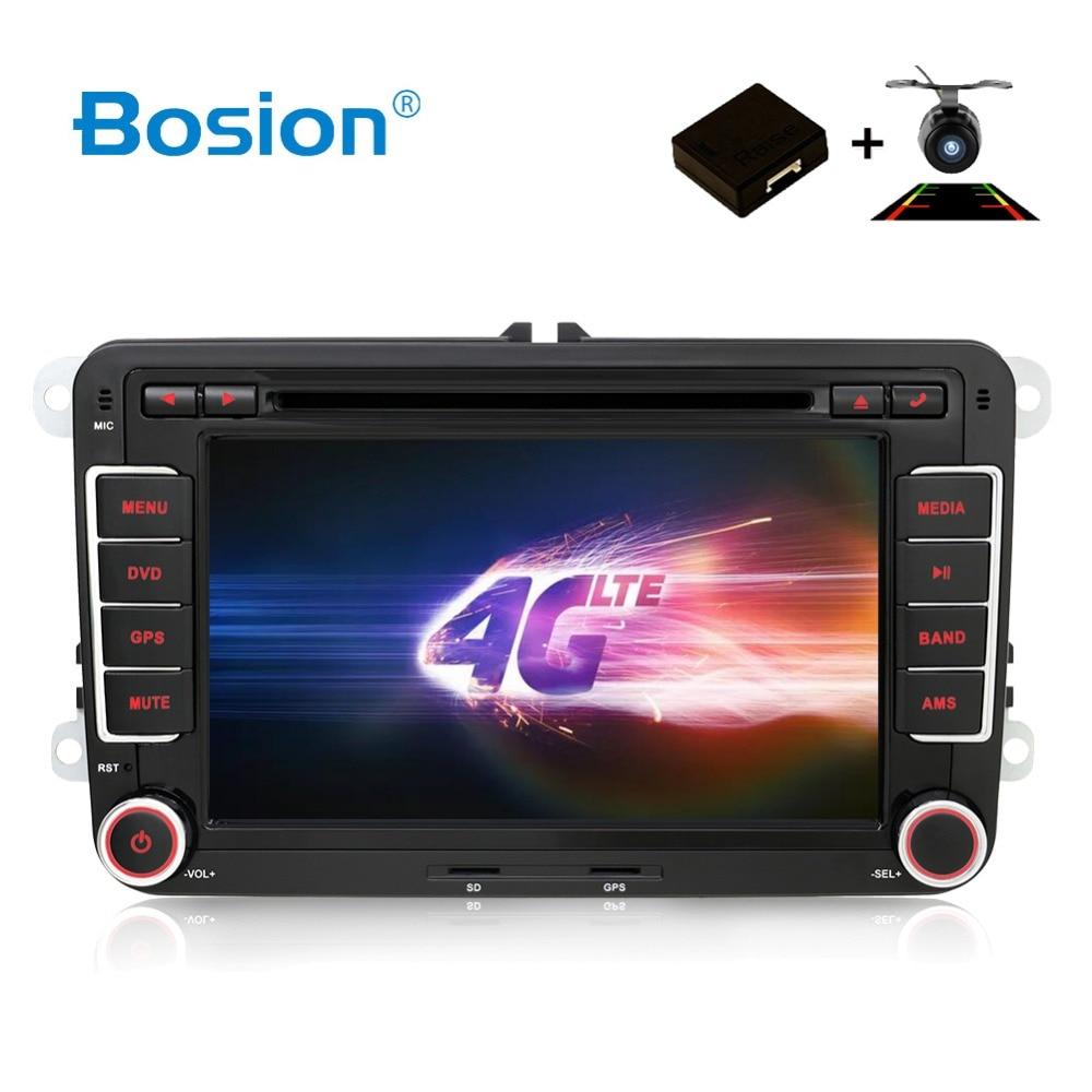 Android 7/8 voiture DVD GPS Navigation Wifi + Bluetooth + Radio Autoradio 2 Din pour Volkswagen GOLF 4 5 6 POLO PASSAT TIGUAN Caddy Turan