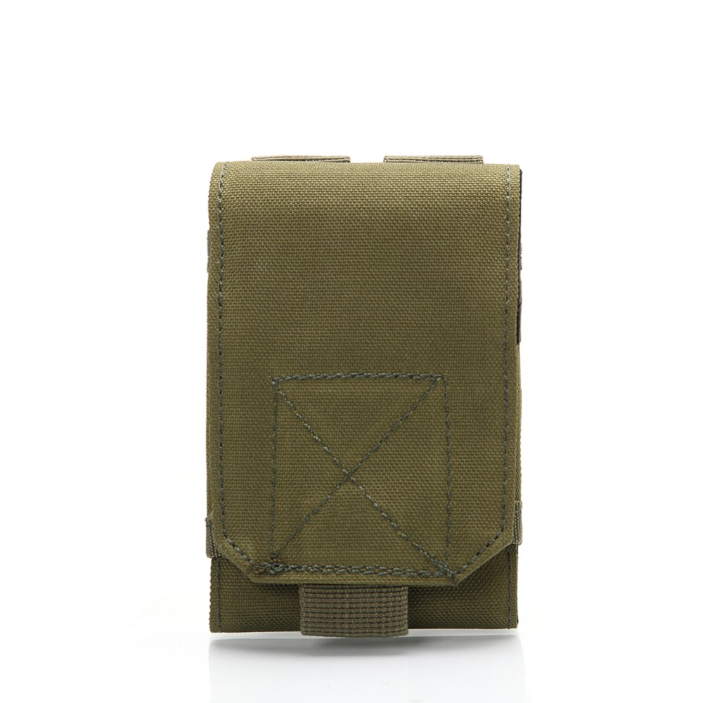 Outdoor Camping Hiking Tactical Phone Bag MOLLE Army Camo Camouflage Bag Hook Loop Belt Pouch Nylon