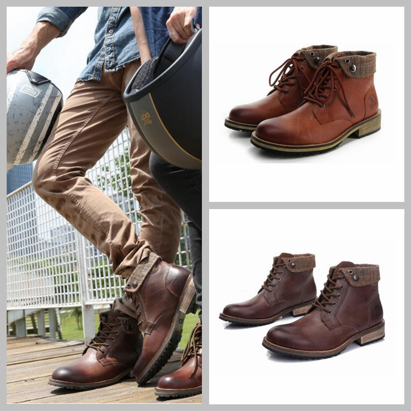 how-yes new ARCX motorcycle boot  racing drop leather retro shoes waterproof sport road shoes motorcross shoes size 39-45