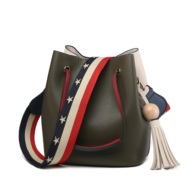 Cute Bucket Bags Bucket Leather Shoulder Sling Bags For Women Drawstring Handbags Ladies Small Crossbody Bucket Bag 1