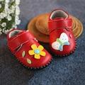 100% натуральная кожа мокасины ручная детская обувь ребенка малыша девочка первый ходунки подсолнечника + бабочка дизайн