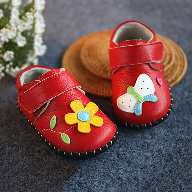 100%Genuine Leather Moccasins Handwork  Baby Shoes Child  Toddler Baby Girl Shoes  First Walkers  Sunflower + Butterfly  Design