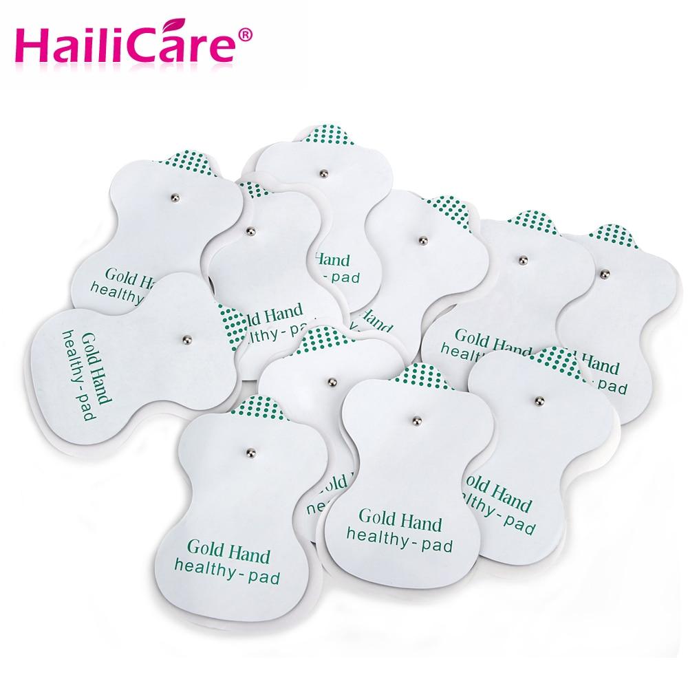 Eletrodo antiestresse dezenas acupuntura almofada massagem corporal terapia digital máquina ems almofadas remendos vibrador corpo cuidados com os pés