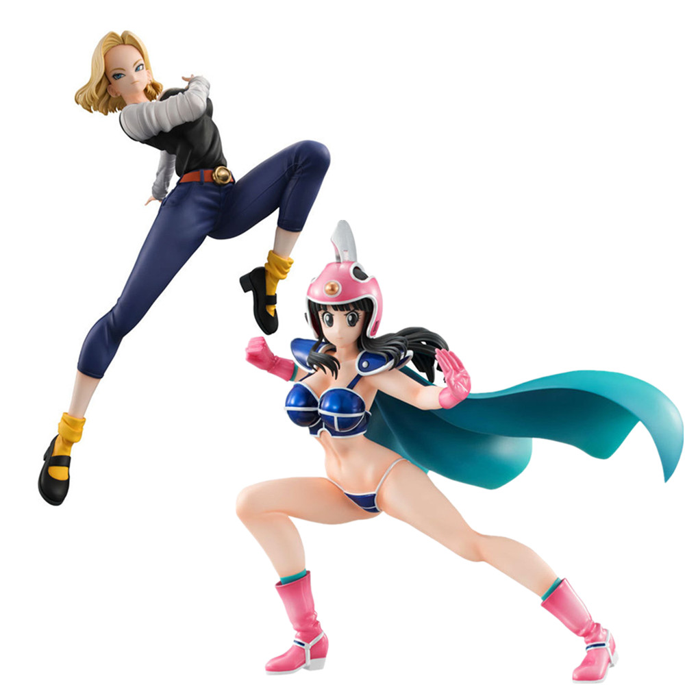 Dragon Ball Z Action Figure Super ChiChi Android <font><b>18</b></font> Lazuli <font><b>Sexy</b></font> <font><b>Girl</b></font> PVC <font><b>Hot</b></font> Toys Anime Dragon Ball Gals DBZ Figma Doll Model PG image