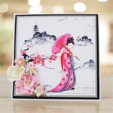 YaMinSanNiO Japanese Lady Dies Decor Metal Cutting Craft Die Cut New 2019 Scrapbooking Card Making Embossing DIY