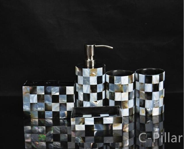 Pezzi set shell resina accessori da bagno set accessori da bagno