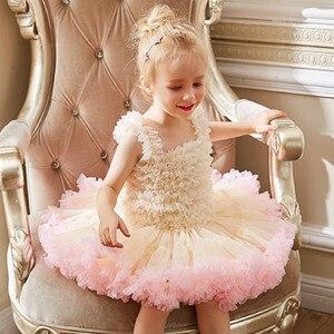 9 цветов, платье принцессы с фатиновой юбкой-пачкой для девочек, детские вечерние праздничные костюмы на день рождения, свадебные бальные пл...