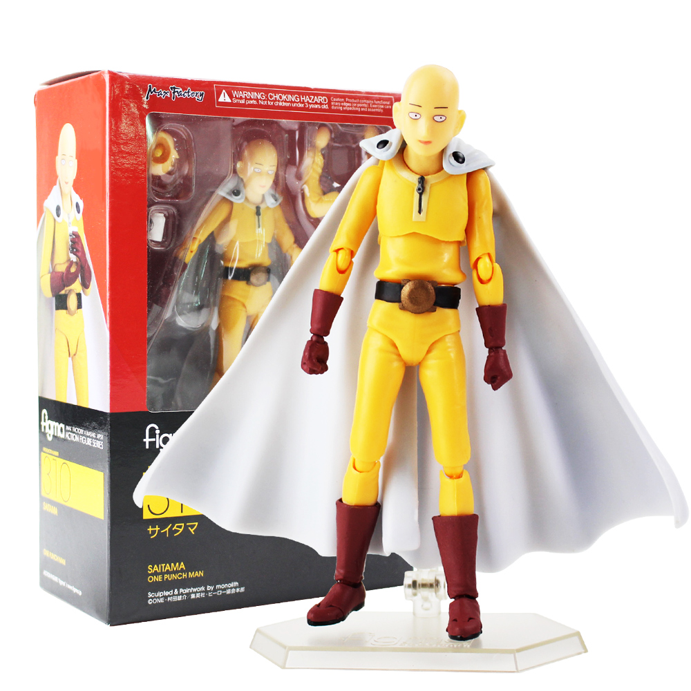 "6/"" Figma 310 One Punch Man Saitama PVC Action Figure Toy Gift New In Box"