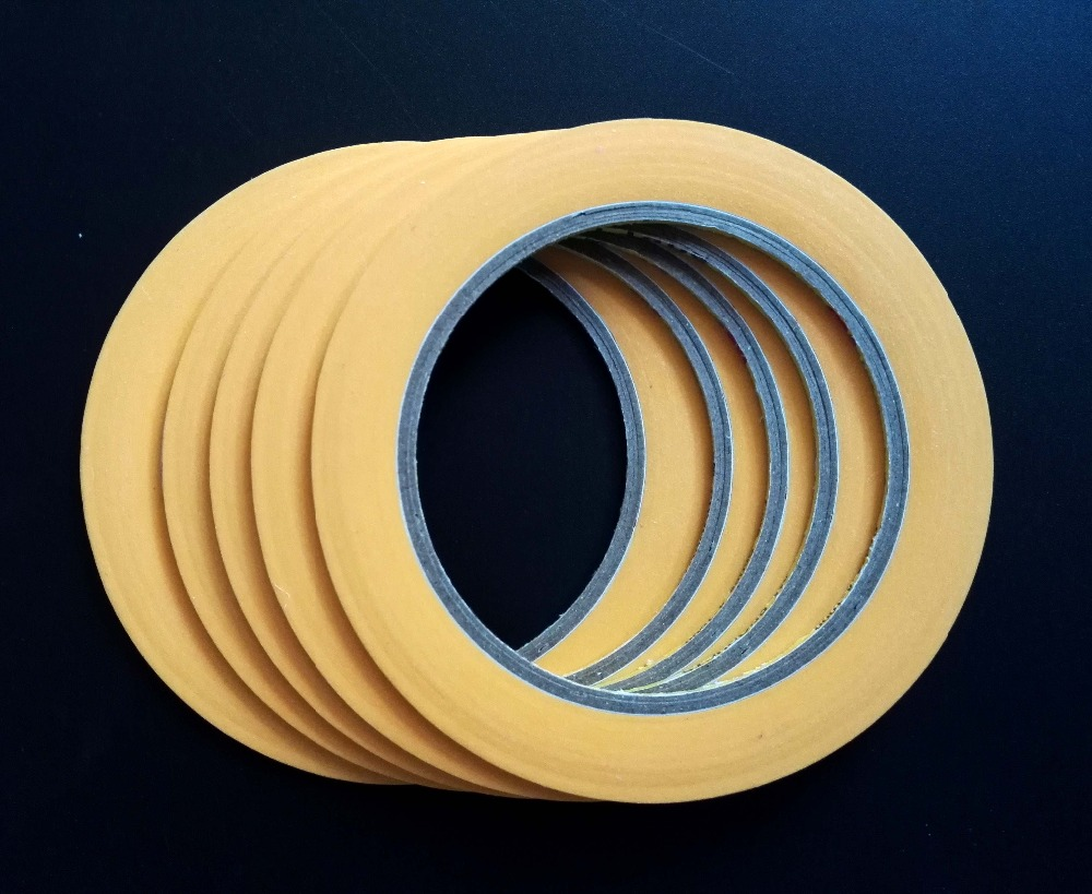 2mm~100mm 3M 244 High Temperature Paper Masking Tape For Automotive Car Painting Refinish Electronic Protection Masking