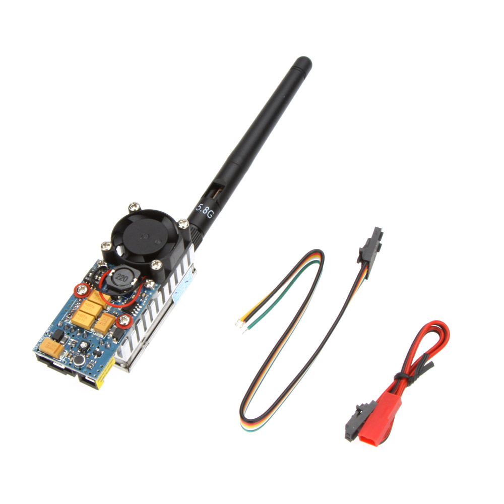FPV Wireless Transmitter TS582000 5.8G 2000MW 8CH Video AV Audio Sender uhf 2000mw long distance wireless video audio transmitter analogue 12 channels security sender 2 4ghz analog transmitter