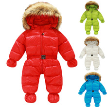 Winter Down Romper Infantil Bebes Baby Snowsuit Thick Warm Jacket Baby Winter Clothes 95% White Duck Down Infant Outfits