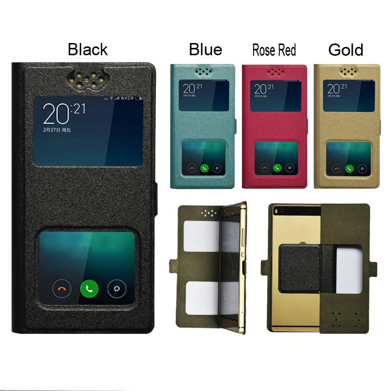 dower me Double window Universal Flip PU Leather Case Cover For Cagabi One Phone In Stock N3