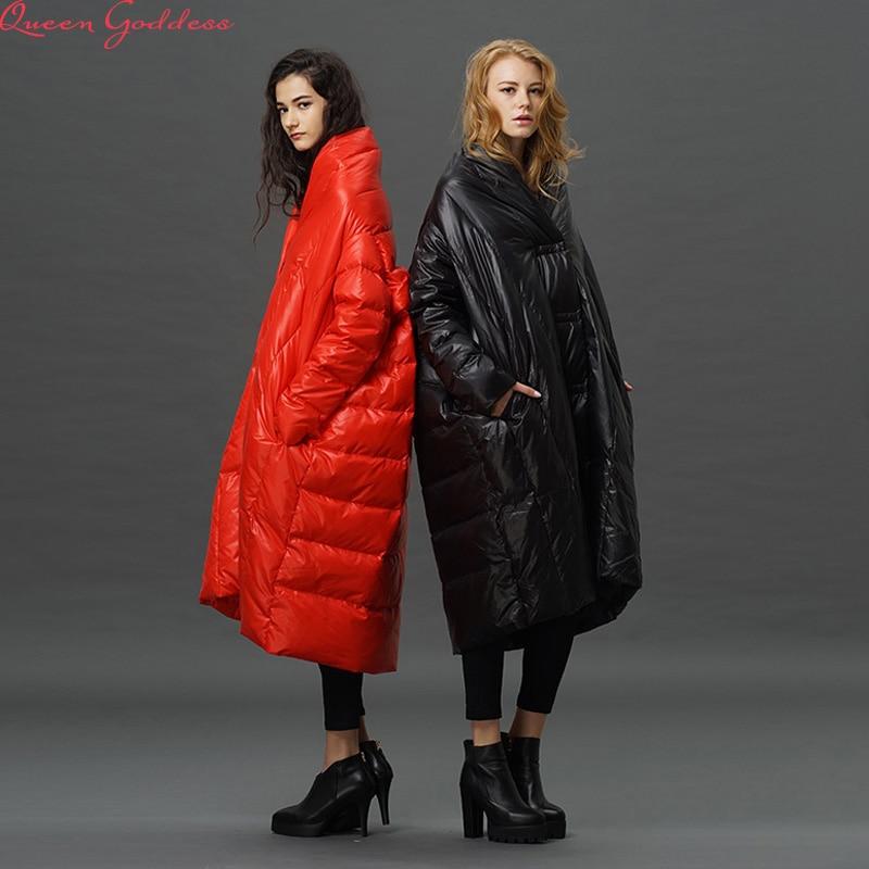 High Quality 2017  Fashion Women   Winter Jacket Female X-Long White Duck Down Parkas Coat Thick Hoody Winter  Coat