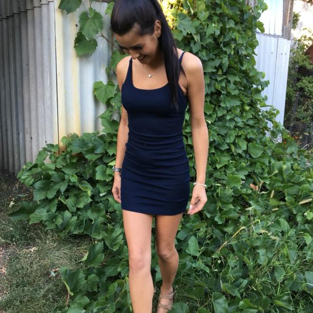 Fashion Women Sexy Backless Basic Dresses Sleeveless Dress