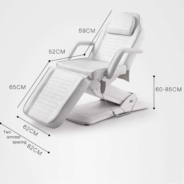 1pcs New White Multifunctional Electric Medical Operating Massage Spa Bed Supply Eyebrow Tattoo Beauty Chair Table