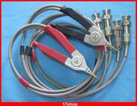 1 Set Red Black Kelvin Clip For LCR Meter With 4 BNC Male Connector Test Wires