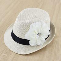 Free Shipping New Baby Flower Hat Children Summer Straw Fedora Hat Girl Sunbonnet Cap Top Hat
