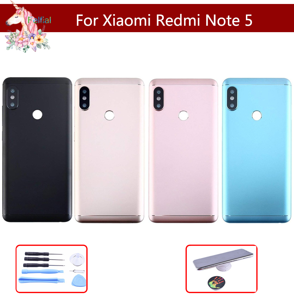 Original For Xiaomi <font><b>Redmi</b></font> NOTE5 <font><b>Note</b></font> <font><b>5</b></font> / <font><b>Note</b></font> <font><b>5</b></font> <font><b>Pro</b></font> <font><b>Battery</b></font> Back <font><b>Cover</b></font> Rear Door Housing Side Key Replacement Repair Spare Parts image