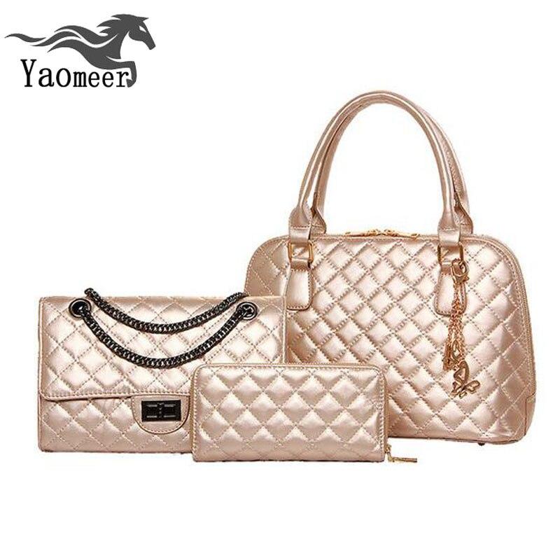 ФОТО italian bag set luxury chain quilted handbag shoulder women bags female designer crossbody bags famous brand ladies clutch purse