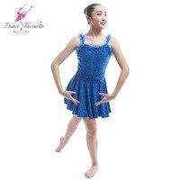 Royal Blue Sequin Pandex Ballet Dress Women Girl Stage Performance Dance Costume Jazz Tap Dance Costume