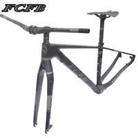 2017 FCFB mtb рама для горного велосипеда велосипедная Рама из углеродного горная углеродистая сталь рамка 29er * 17/19 дюймов руль из углеродного вол