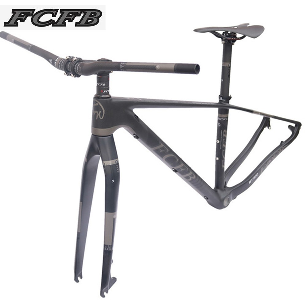 2017 FCFB mtb frame mtb bike frame carbon mountain carbon frame 29er*17/19inch carbon handlebar seatpost stem saddle 2017 mtb bicycle 29er carbon frame chinese mtb carbon frame 29er 27 5er carbon mountain bike frame 650b disc carbon mtb frame 29
