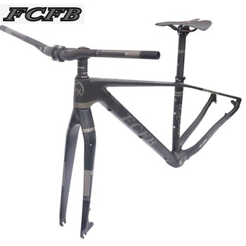 MARCO DE 2017 FCFB mtb Marco de bicicleta mtb Marco de carbono de montaña 29er * 17/19 pulgadas manillar de carbono tija de sillín madre silla
