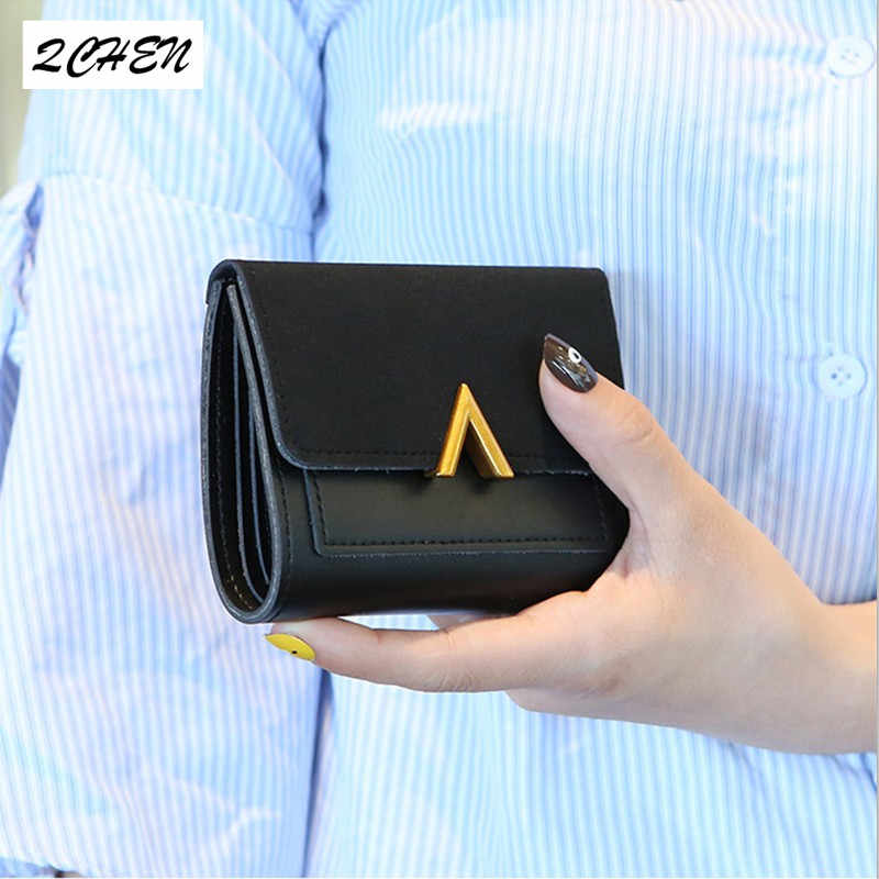 Leather Small Women Wallet Luxury Brand Famous Mini Women Wallets And Purses Short Female Coin Purse Credit Card Holder 170Q