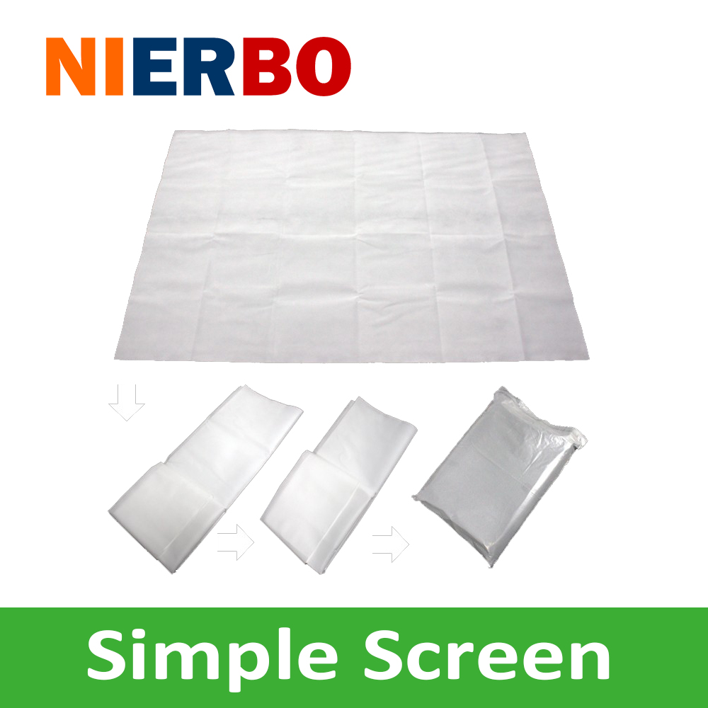 Fast Fold Screen 4 3 100 Inches Non Woven Fabric Projector simple Movie Screen Portable For