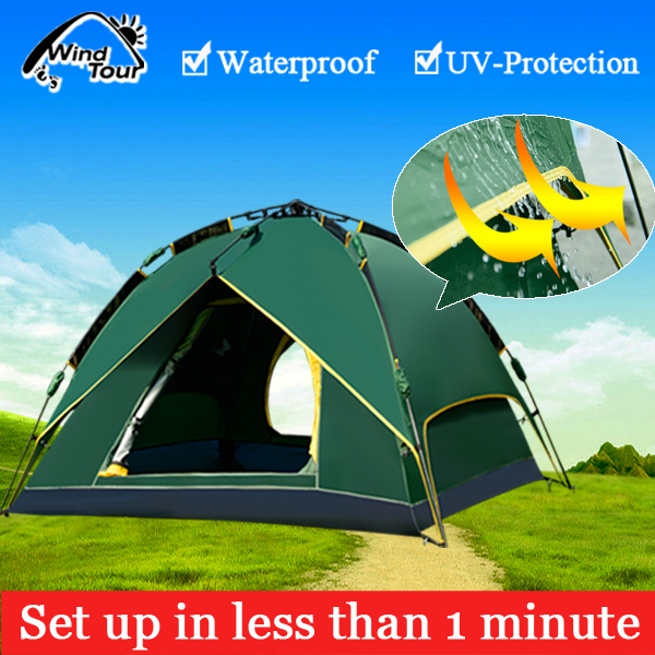 Wind Tour Outdoor Instant Tent Beach Tent Automatic C&ing Tent Quick Set Up & Wind Tour Outdoor Instant Tent Beach Tent Automatic Camping Tent ...