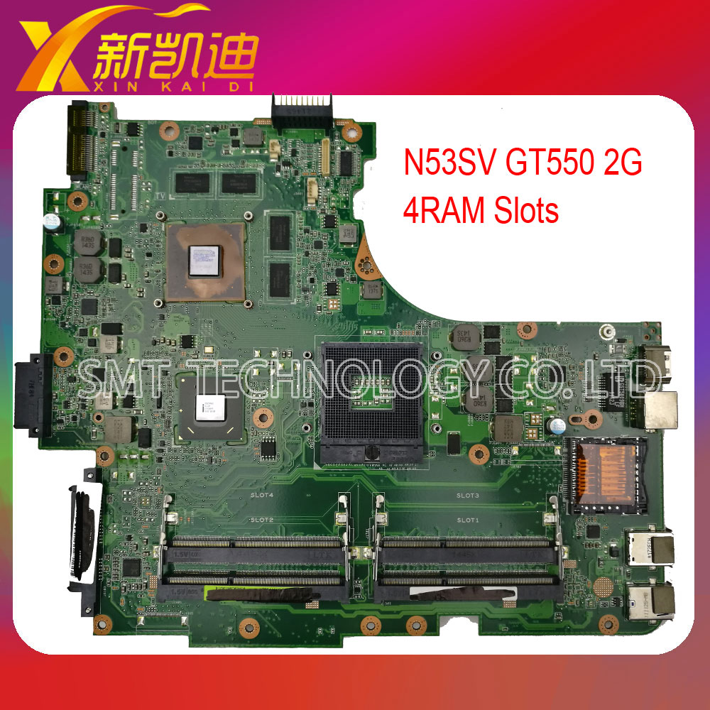 For ASUS N53SM Original laptop motherboard (mainboard) nvidia GT550M  4RAM slots Rev 2.2 tested well