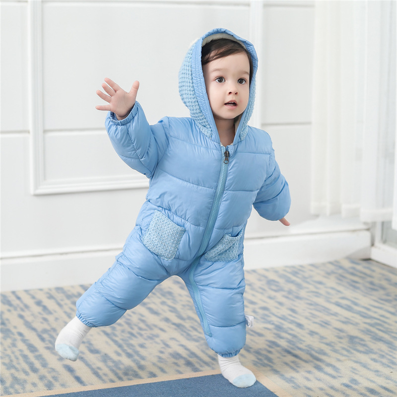eb4dbd741304 Down Cotton Coat Baby Rompers Winter Thick Boys Costume Girls Warm ...