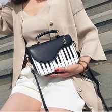2019 Pink Messenger Bag New Cute Piano Contrast Colr Pattern Pu Leather   Women's Flap Casual Ladies Shoulder Bag Crossbody