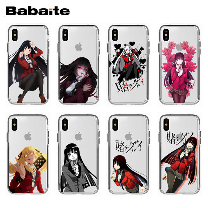 EXCLUSIVE HOMEMADE Babaite Anime Kakegurui Soft silicone Phone Case Cover For iPhone X 10 8 8Plus 7 7Plus 6 6S Plus 5 5S SE
